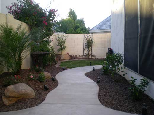 New side yard in Chandler after yard remodel