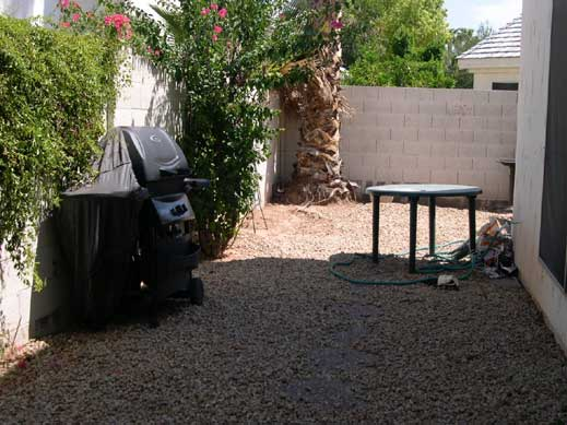 Chandler AZ yard before remodel