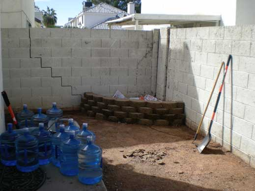 Chandler home befor yard revamp