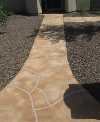Charming Acrylic Overaly Fake Flagstone Look Arizona Aquatic Landscaping
