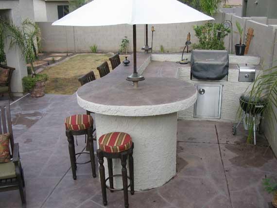Built in BBQ Arizona Living Landscape and Design Call 480-390-4477 on backyard patio bars, backyard wedding bars, backyard deck bars, backyard pool bars, outdoor bbq bars, backyard party bars,