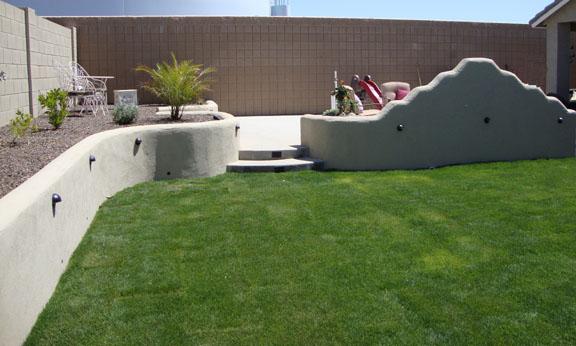 Az landscape concrete flagstone block wall