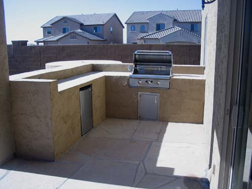 Built in BBQ Grill Patio