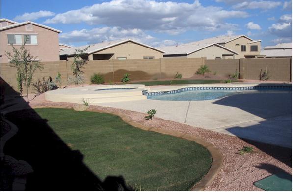 tropical back pool