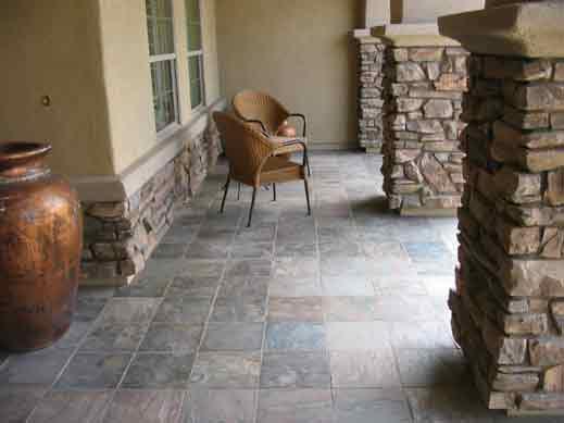 granite stone patio arizona aquatic landscaping