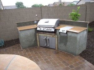 Built IN Gas BBQ Arizona Living Landscape