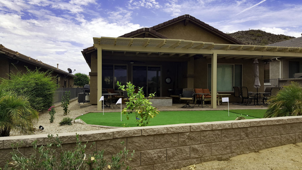 The addition of an Alumawood pergola is a great solution that will extend  your backyard living area. Your new patio cover will provide shade and  beauty so ... - Pergola Patio Cover - Alumawood Arizona Living Landscape & Design