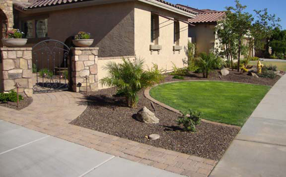 Gallery for desert landscape design with grass - Front yard desert landscaping ...