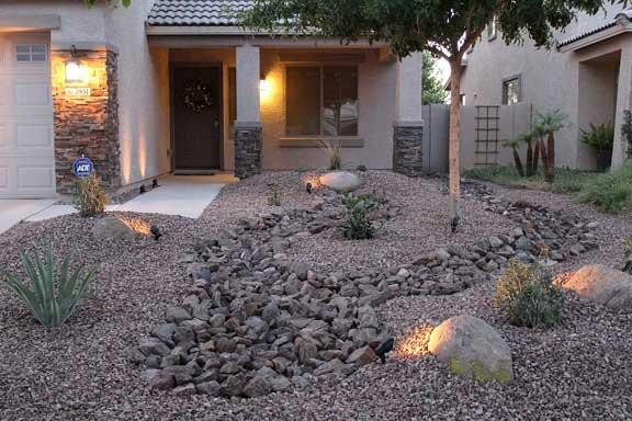 Front Yard Desert Landscape Redesign Small