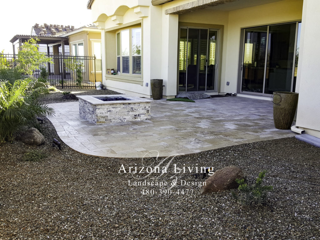 Paver Patio design ideas installation - Arizona Living ... on Travertine Patio Ideas id=48986