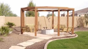 Fire Pit Gazebo Swings