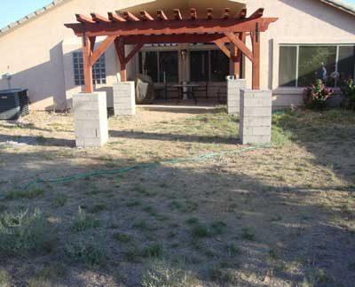 Gilbert backyard before landscape