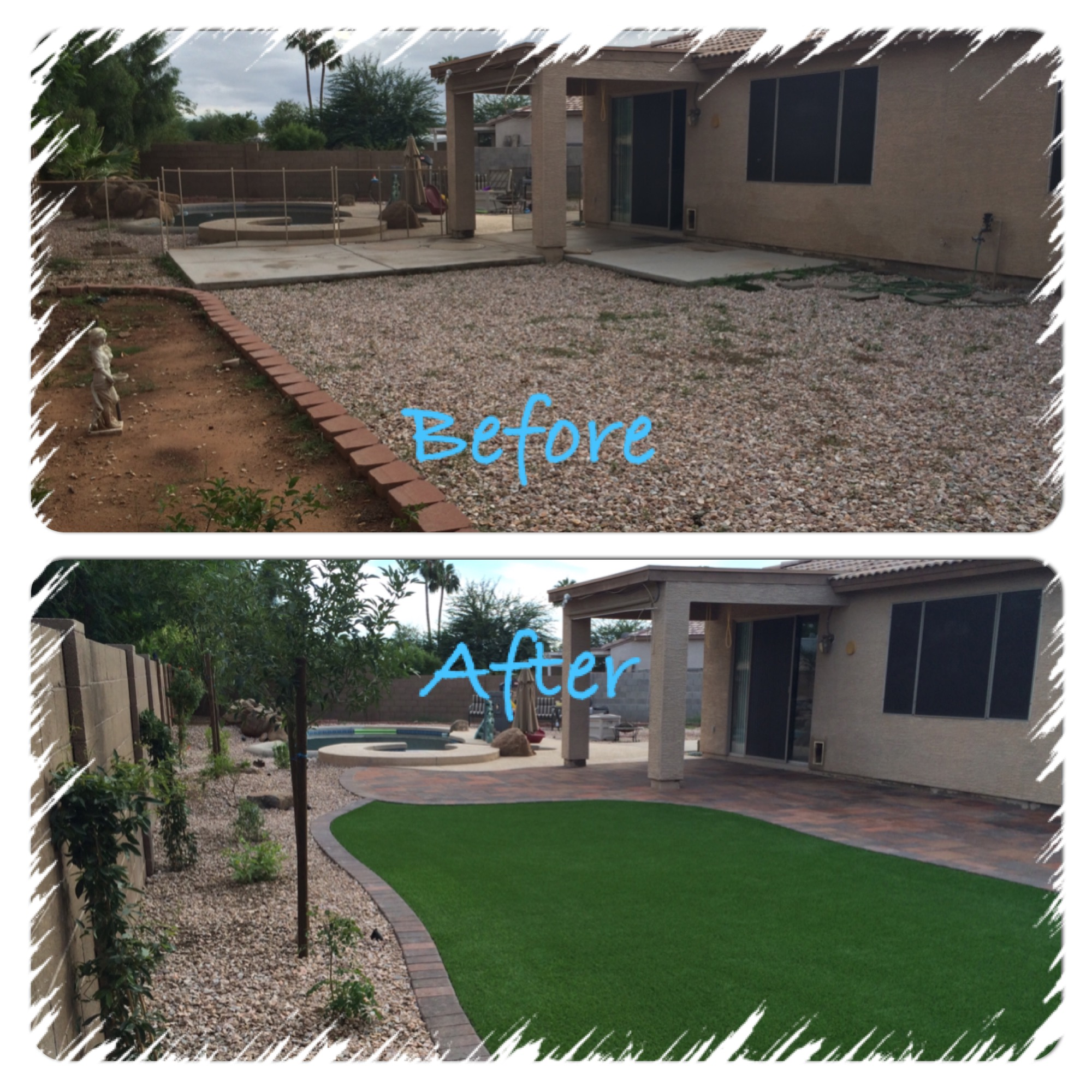 Patio designs archives arizona living landscape design Backyard design pictures