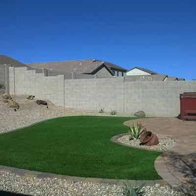 Az Small Backyard Landscaping with Synthetic Grass