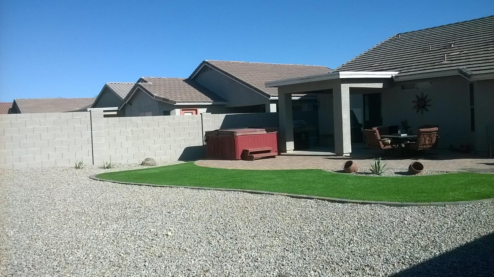 small backyard landscaping synthetic az living landscape