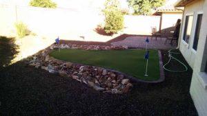backyard landscaping putting green