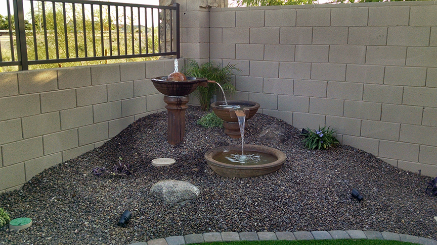 Small backyard landscaping az living landscape design - Low cost landscaping ideas ...