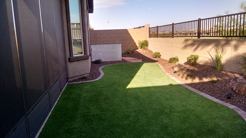 Small Backyard small backyard landscaping - az living landscape & design