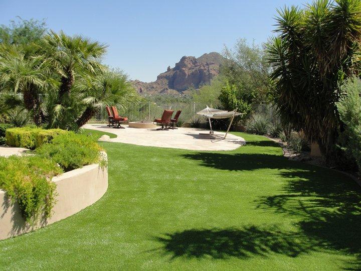 Synthetic Lawn backyard landscape