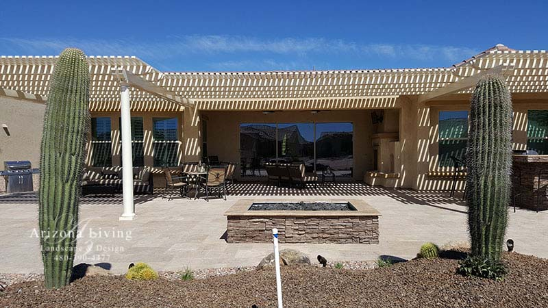 fire-pit-backyard-landscape-arizona-pergola