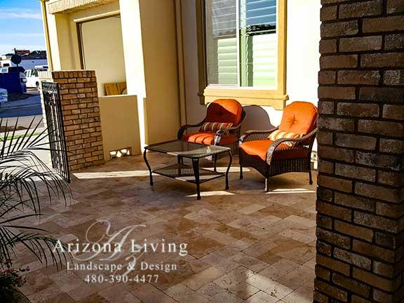 travertine-patio-paver-entrance-way