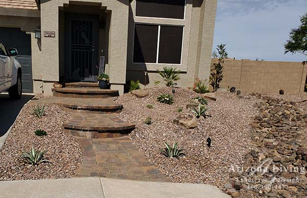 Paver Patio entry with steps